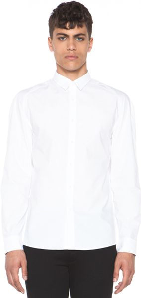 Alexander Wang Raglan Long Sleeve Shirt in White - Lyst