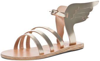 Ancient Greek Sandals Ikaria Sandal in Gray Metallic - Lyst
