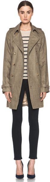 A.P.C. New Classic Trench in Brown - Lyst