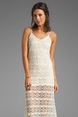 Chaser Spanish Lace Spaghetti Strap Maxi Dress in Cream - Lyst