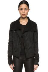 DRKSHDW by Rick Owens Biker Denim Stretch Jacket in Black - Lyst