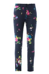 Erdem Melinda Dauphine Night Floralprint Trousers - Lyst