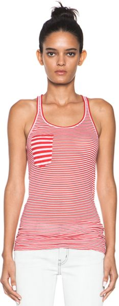 Etoile Isabel Marant Emy Super Light Jersey Striped Tank in Stripes in  (stripes) - Lyst