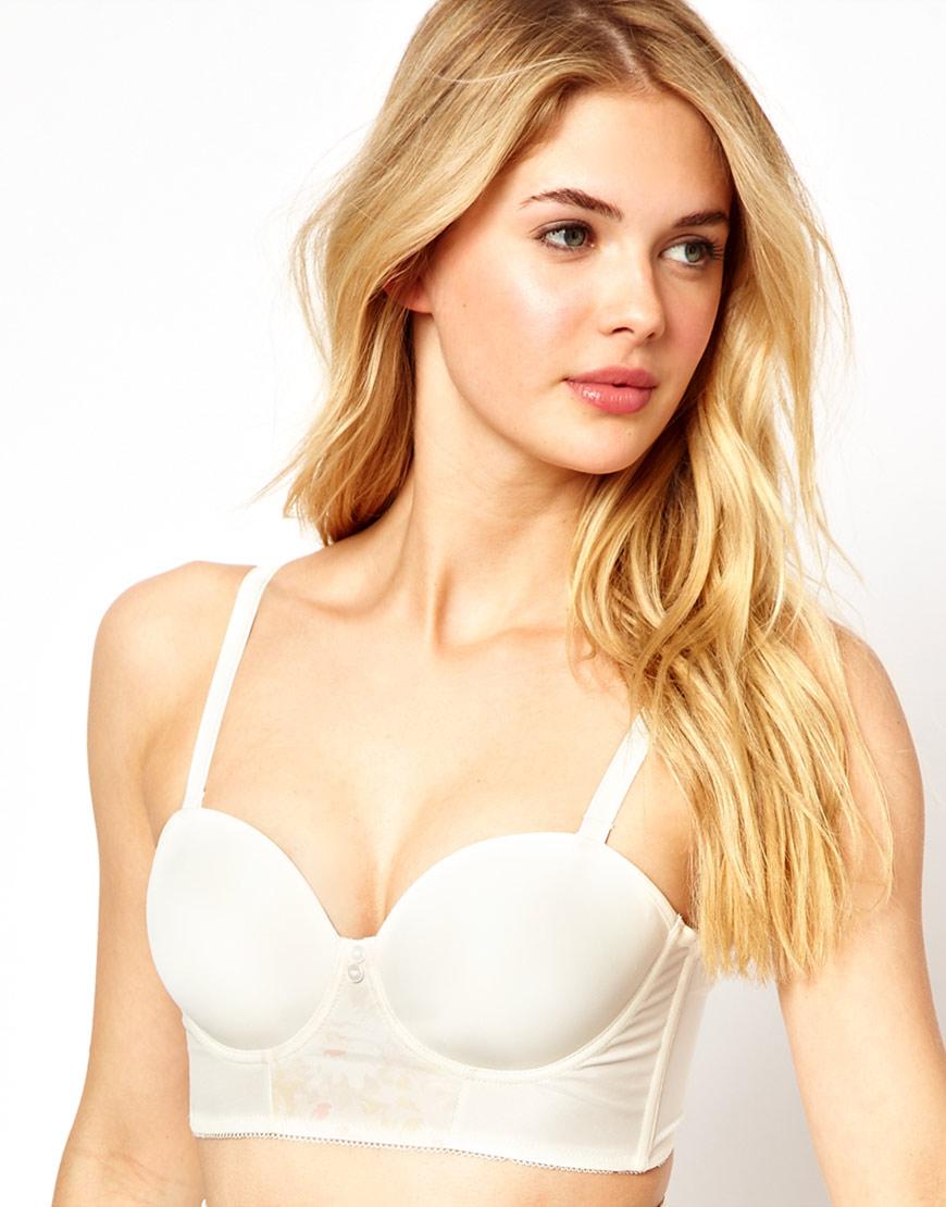 Freya Deco Longline Strapless Bra in White | Lyst