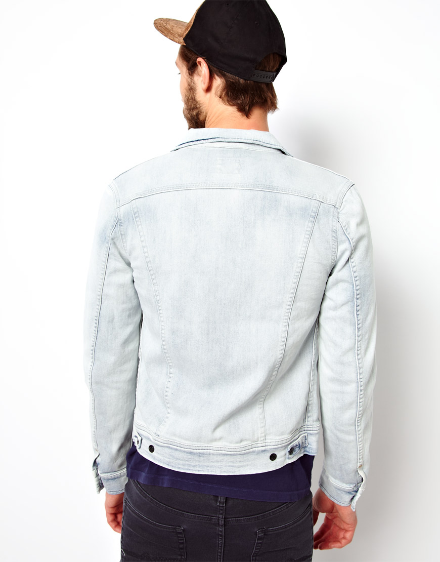 Fred perry Lee Denim Jacket Rider Slim Fit Ice Blue in Blue for ...