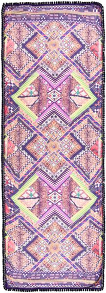 Matthew Williamson Raj Patchwork Pom Pom Scarf  - Lyst