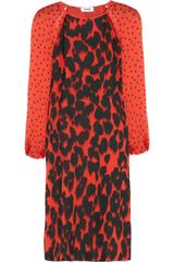 Moschino Cheap & Chic Printed Silk Dress - Lyst