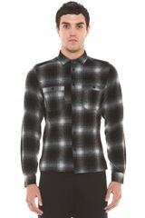 Neil Barrett Slim Fit Elbow Patchwork Shirt  - Lyst