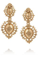 Oscar de la Renta Clip Earrings - Lyst