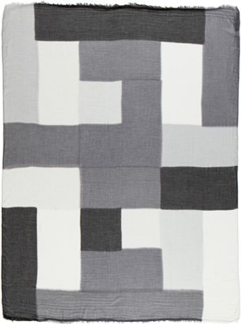 Rick Owens Geo Print Scarf in Blackgray - Lyst