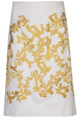 Thakoon Embroidered A-Line Skirt - Lyst