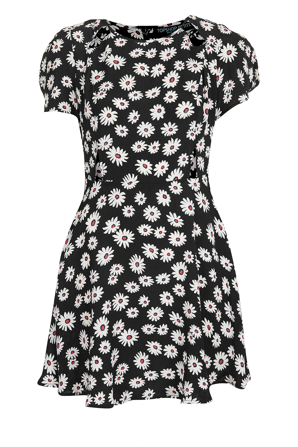 Lyst Topshop Petite Daisy Print Dress In Black