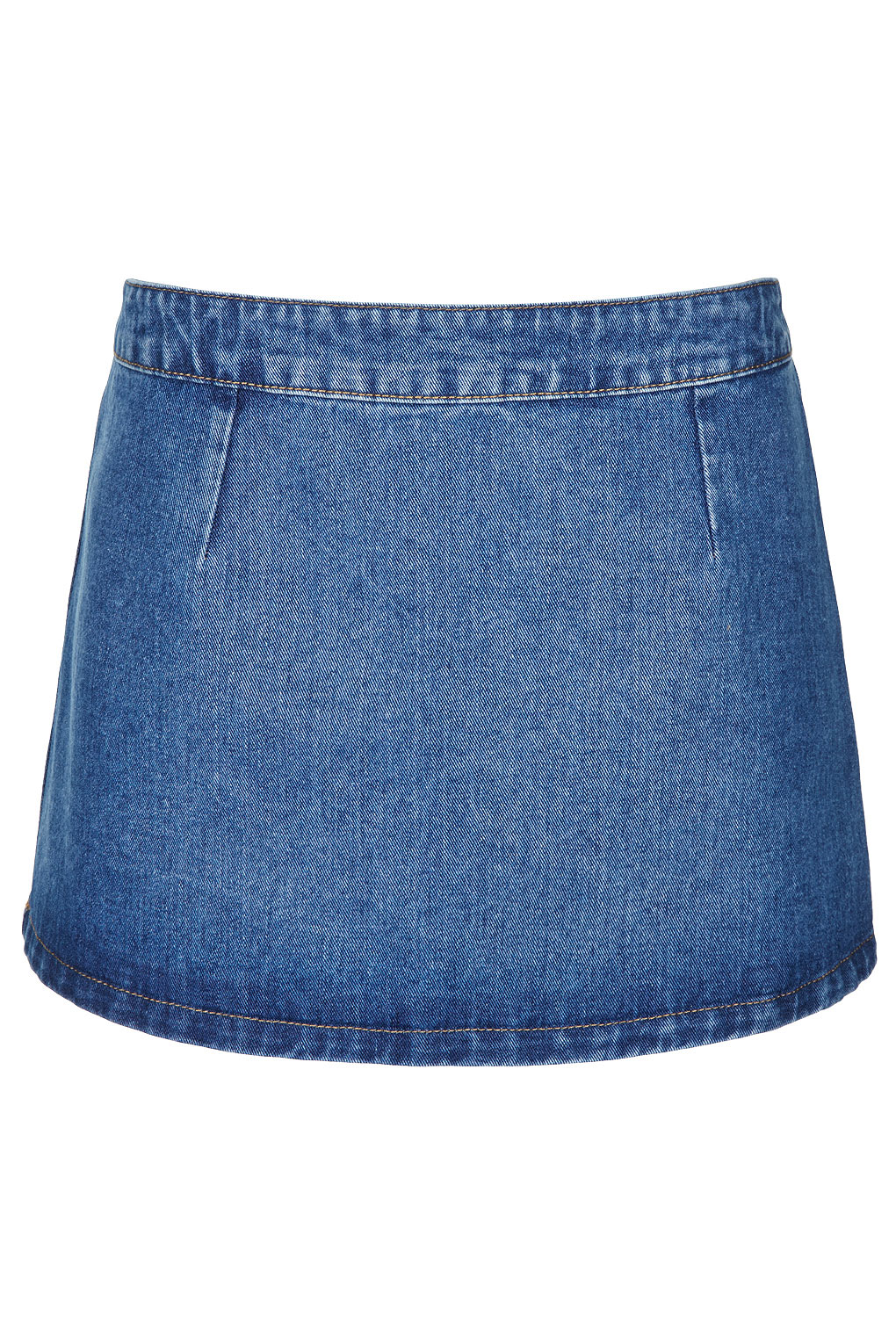 topshop moto denim skirt in blue mid lyst