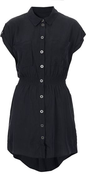 Topshop Petite Casual Shirt Dress - Lyst