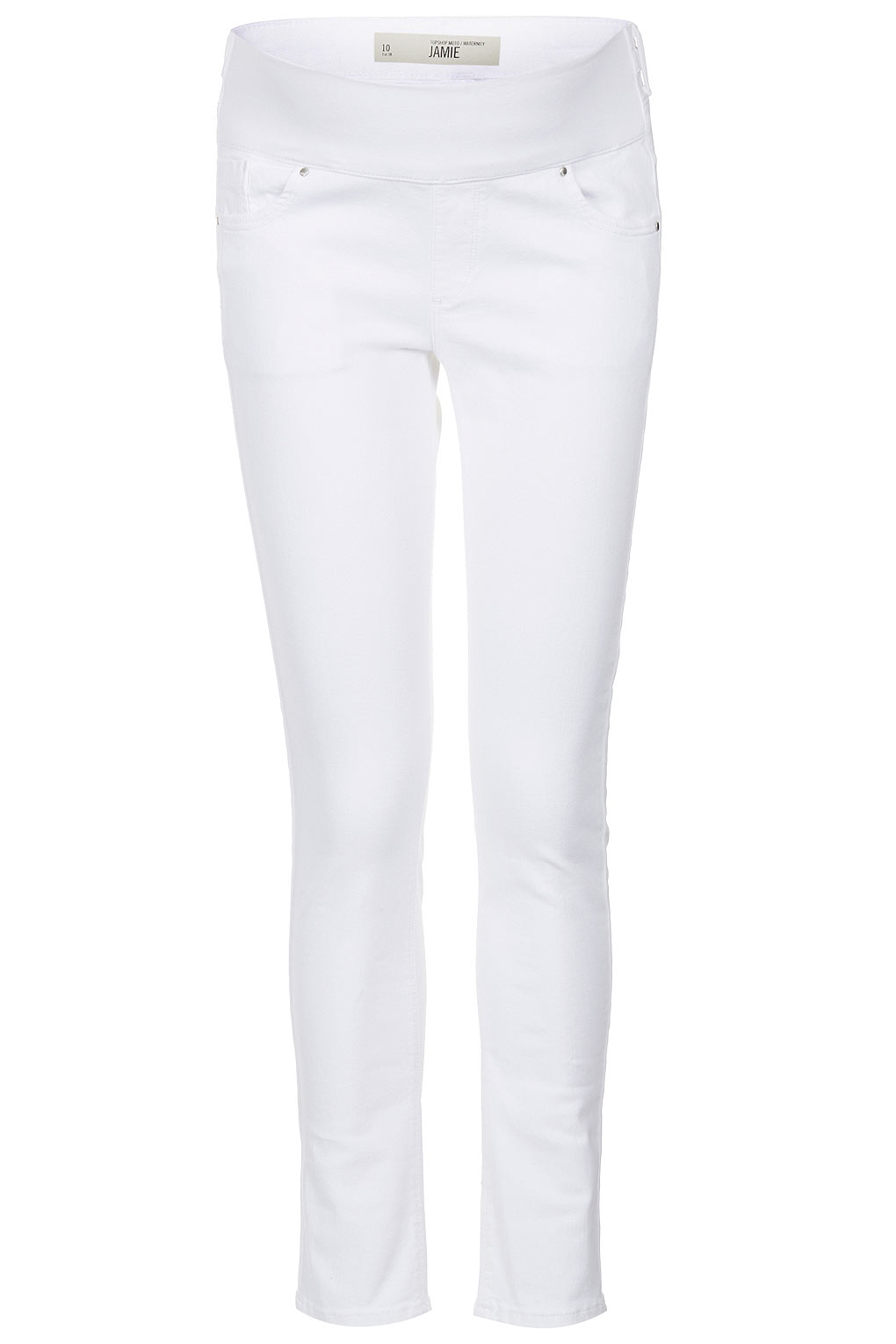 Topshop Maternity Moto White Jamie Jeans in White | Lyst