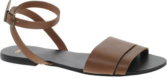 Asos Format Leather Flat Sandals - Lyst
