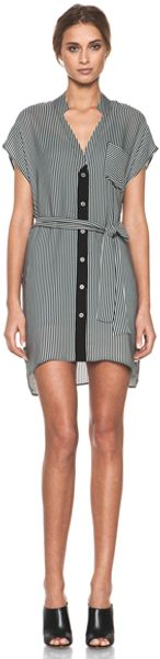 Kelly Wearstler Trove Curiosity Dress in Graystripes - Lyst
