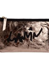 Lanvin Metallic Clutch - Lyst