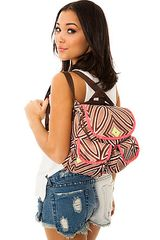 Lesportsac The Small Convertible Backpack in Mai Tai Flourescent - Lyst
