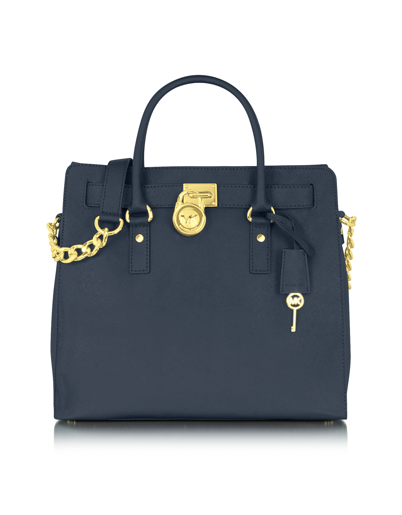 michael kors hamilton saffiano leather northsouth tote in blue navy car interior design. Black Bedroom Furniture Sets. Home Design Ideas