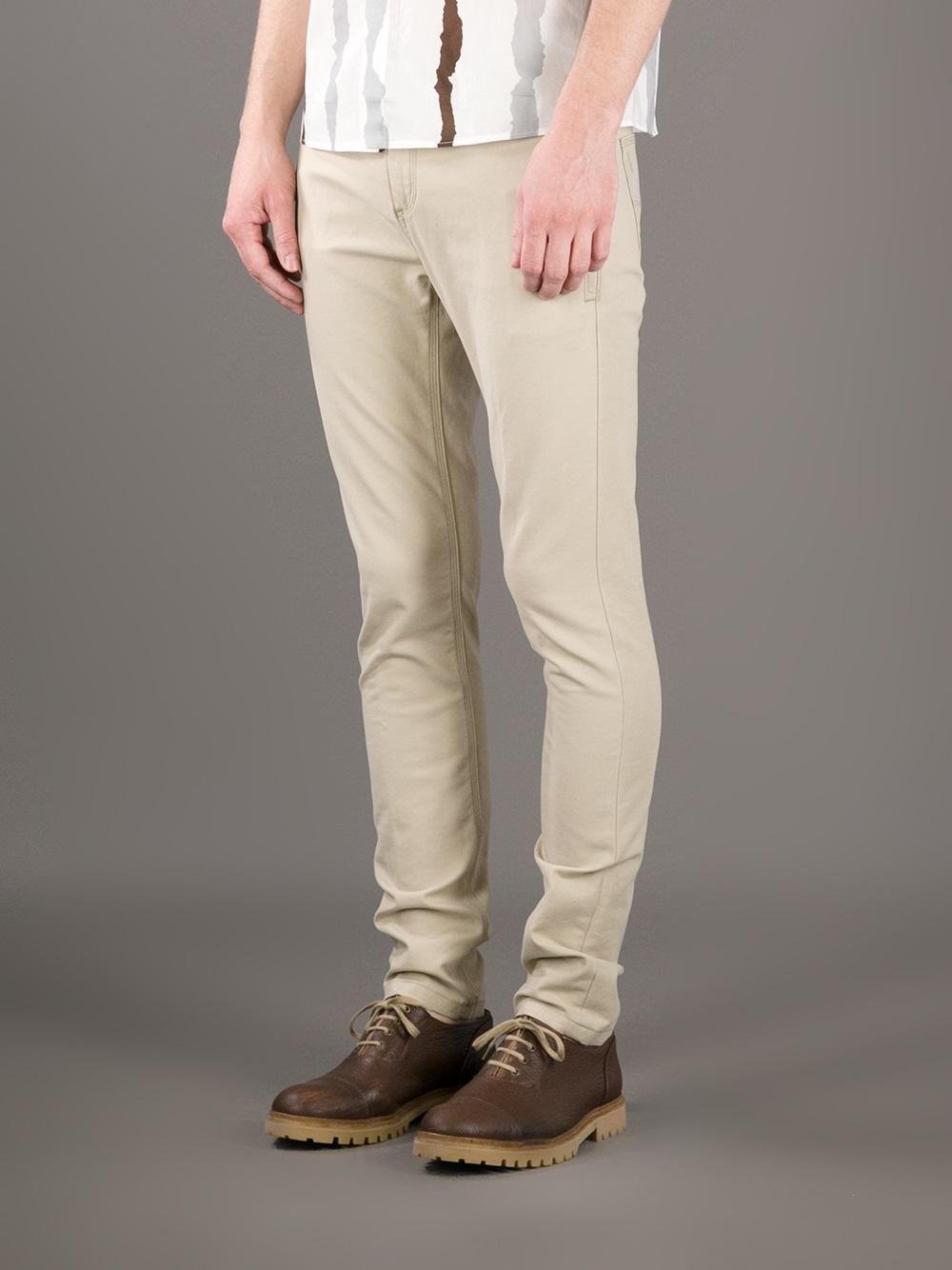 Neil barrett Skinny Jeans in Natural for Men | Lyst