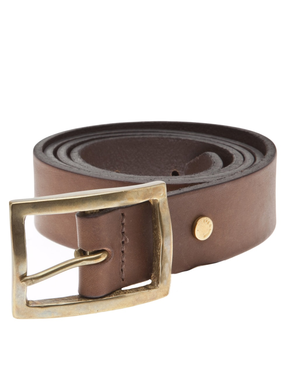 Lyst Rag Amp Bone Rugged Belt In Brown For Men