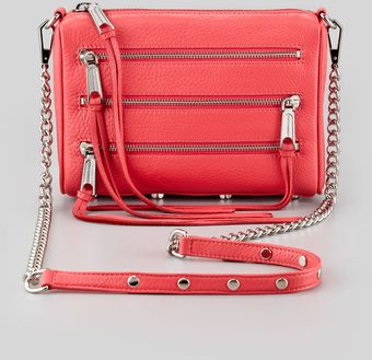 Rebecca Minkoff Zipfront Leather Crossbody Bag - Lyst