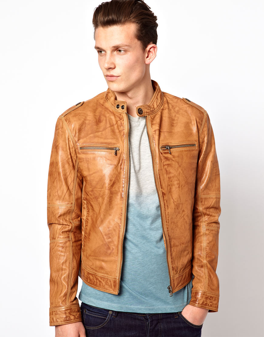 66aac9b0e7 Lyst - Pepe Heritage Pepe Heritage Leather Jacket Dyer Biker Worn in ...