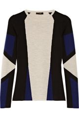 Belstaff Whitmore Colorblocked Wool Sweater - Lyst
