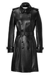 Burberry Lambskin Torquay Trench in Black
