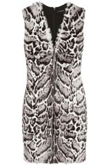 Christopher Kane Animalprint Goat and Leather Dress - Lyst
