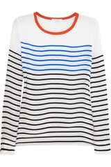 Equipment Liam Striped Silk Top - Lyst
