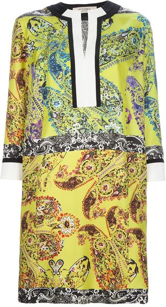Etro Patterned Silk Dress - Lyst