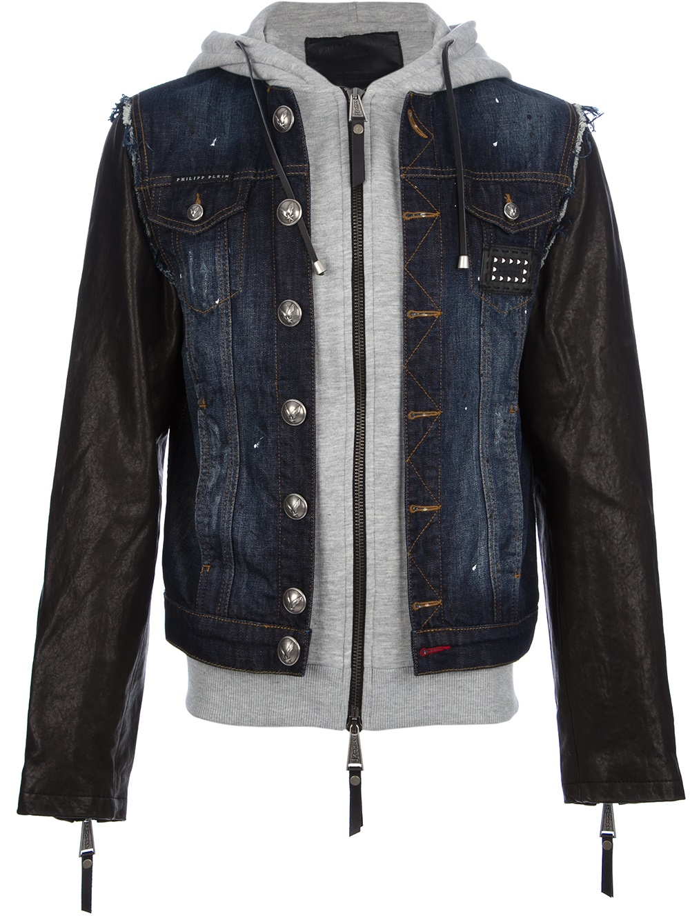 philipp plein showy jacket in blue for men lyst. Black Bedroom Furniture Sets. Home Design Ideas