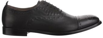 Alexander McQueen Vacuum Calf Brogue Shoes - Lyst