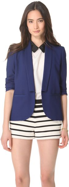 Band Of Outsiders Stitch Lapel Blazer - Lyst