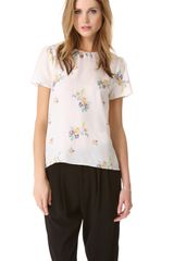 Band Of Outsiders Short Sleeve Blouse - Lyst
