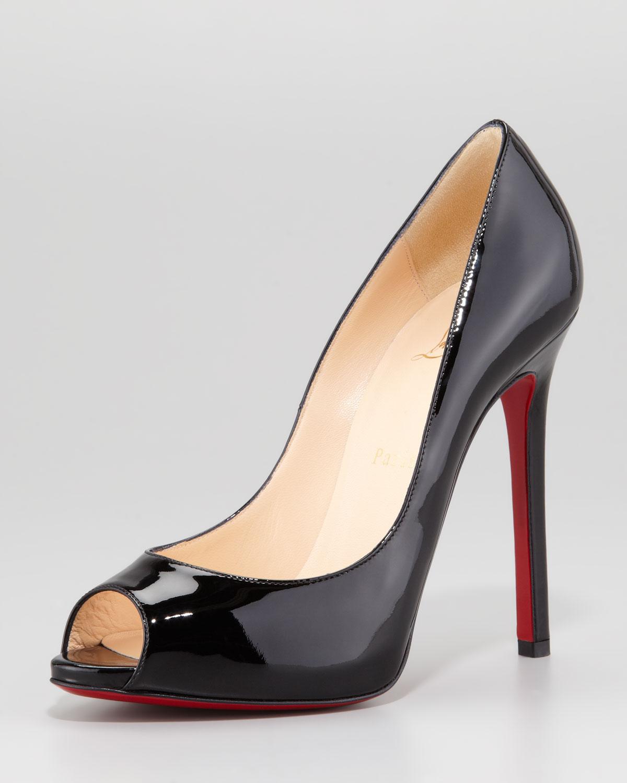 ... where can i buy lyst christian louboutin flo patent leather red sole  peeptoe pump 7b899 37e82 ... 3ed0232633e7