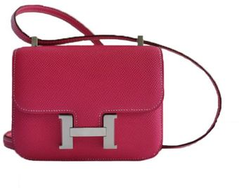 Hermes 18cm Rose Tyrien Togo Mini Constance with Palladium - Lyst