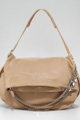 Jimmy Choo Biker Chaindetailed Hobo Bag - Lyst