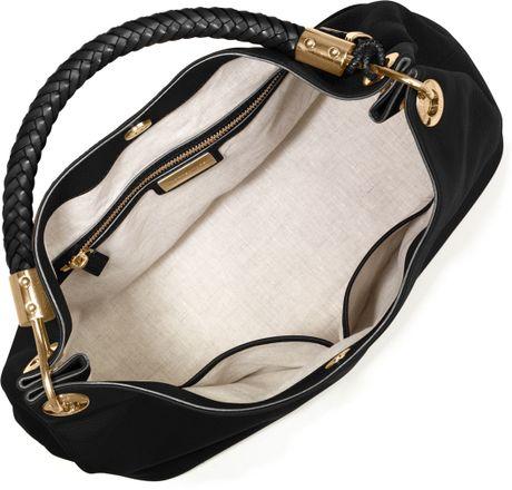 Uk Michael Kors Skorpios Shoulder - Bags Michael Kors Large Skorpios Grained Shoulder Bag Black