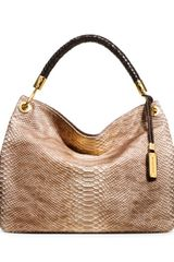 Michael Kors Large Skorpios Snakeembossed Shoulder Tote - Lyst