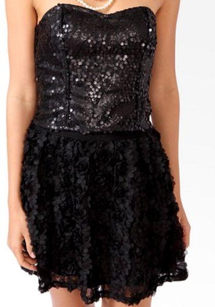 Black Sequin Top Top in Black Forever 21