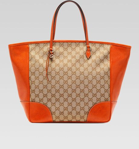 7cd2d6623 Tote Bag: Gucci Bree Small Gg Canvas Tote Bag Brown