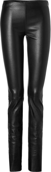 Jitrois Stretch Leather Leggings in Black - Lyst