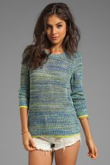 Joie Carlee Contrast Sweater in Blue - Lyst