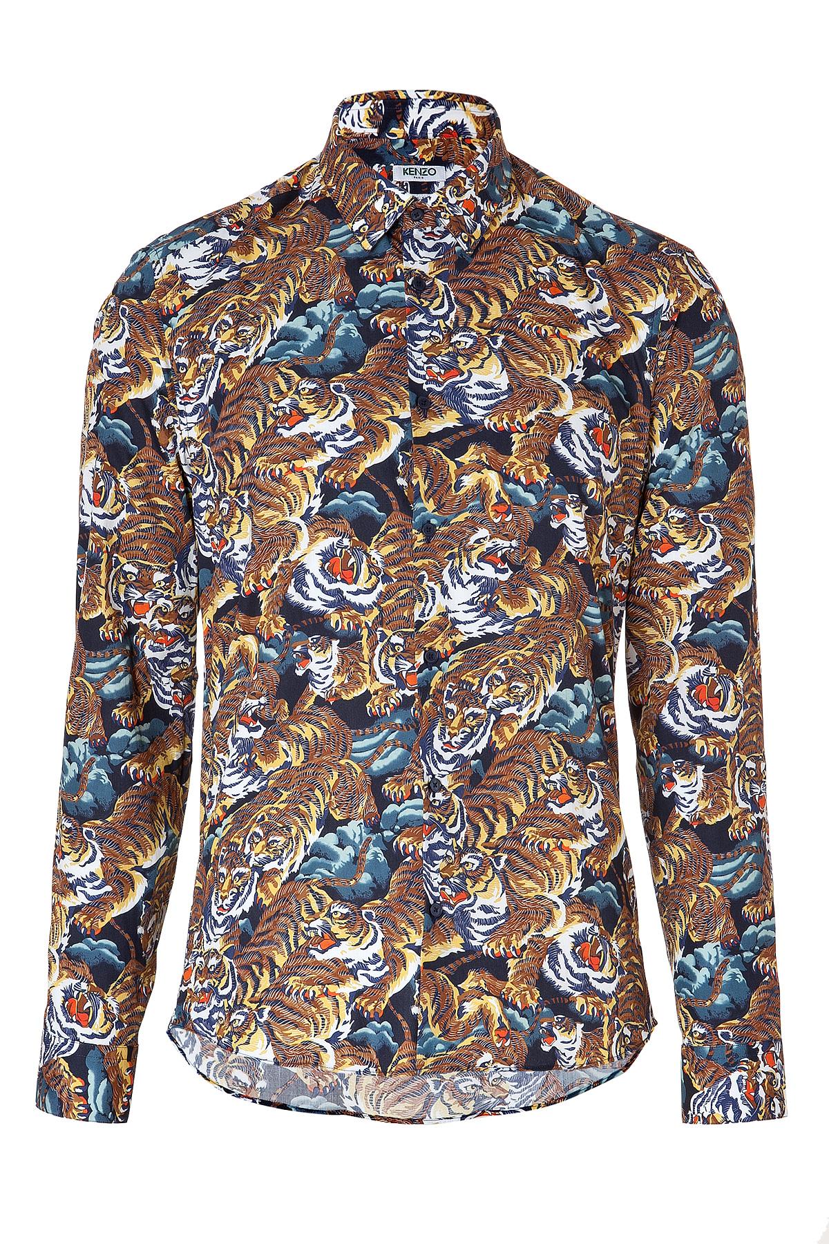 Cotton Shirt Lyst Print Kenzo Men Tiger For xqqw0pT6