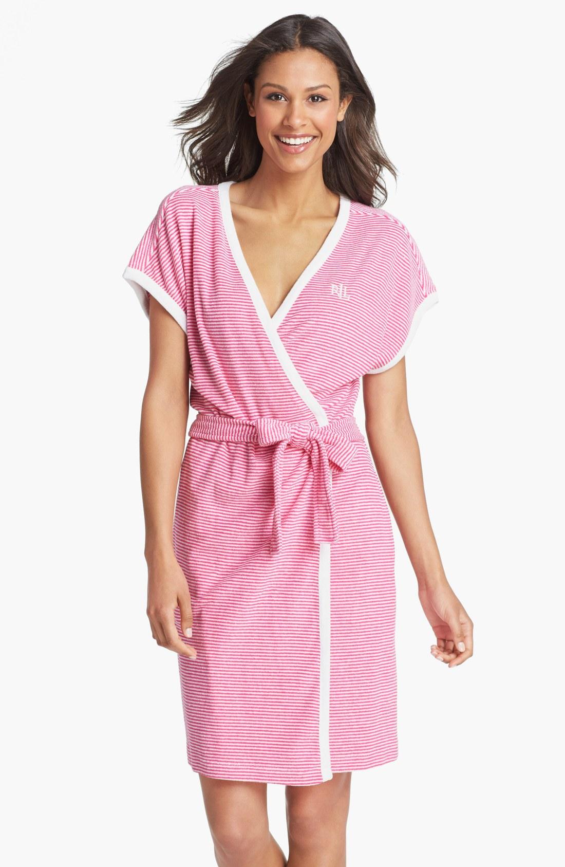 Lyst lauren by ralph lauren sleepwear baby terry robe in for Robe chemise ralph lauren