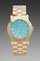 Marc By Marc Jacobs Amy Watch in Metallic Gold - Lyst