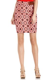 Michael Kors Printed Buckled Pencil - Lyst